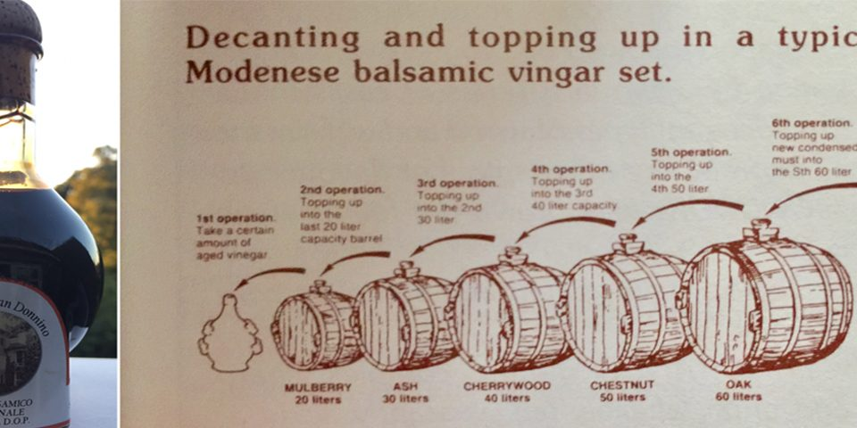 Balsamic Vinegar of Modena and Medical Training